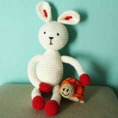 Conejo tejido al crochet
