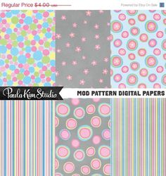 60 OFF SALE Pink Polkadot and Flower Digital by PaulaKimStudio, $1.60  https://www.etsy.com/listing/68959005/60-off-sale-pink-polkadot-and-flower?ref=related-1
