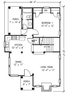 English Bungalow - 1959GT floor plan - Main Level