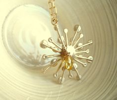 You are my Sunshine Necklace Citrine By Vitrine Holiday Gift by Vitrine