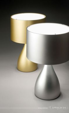 Jazz table lamp low gold lacquered (1333-51) - Vibia / https://iLamparas.com / lamps lamparas deco