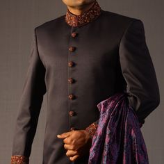 Traditional Sherwani in Blue