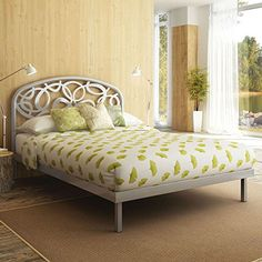 """Amisco Alba Metal Platform Bed, Queen Size 60"""", Dayglam/Textured Silver Grey Amisco Industries http://www.amazon.com/dp/B00OZI55VW/ref=cm_sw_r_pi_dp_6uW6vb0PA3103"""