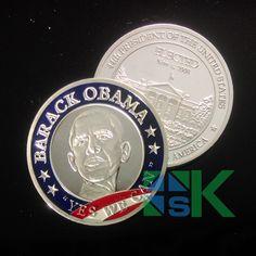 Atacado $number presidente dos estados estado Barack Obama moeda de prata vestidos, 50 pçs/lote(China (Mainland))