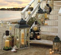 beach house = lanterns.