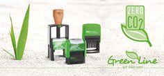 Você sabia? Além de fabricado com 80% de mateiais reciclados parte de seu faturamento é investido em projetos de proteção ao Clima. Use Carimbos Green Line...