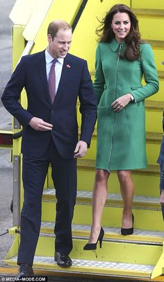 On tour: The Royals have an action packed itinerary with William heading to Pacific Aerospace Factory and Kate paying a visit to Rainbow Chi...