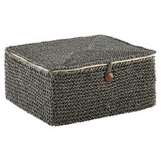 For storing everything from clothing accessories in the closet to reading materials in the family room, our Crochet Box is an attractive solution. It is lined in a fabric and a recycled button closure keeps contents secure.