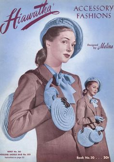 Items similar to Vintage Crochet Band Box Small Handbag Pattern PDF 4603 Plus 4601 on Etsy Crochet Adult Hat, Crochet Belt, Crochet Crown, Mode Crochet, 1940s Hats, My Style Bags, How To Make Leather, Soft Leather Handbags, Vintage Crochet Patterns