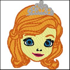 Sofia The First Embroidery Design Instant Download #onselz