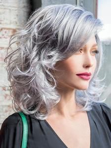 Shampoo For Gray Hair, Grey Curly Hair, Grey Wig, Curly Hair Styles, Purple Shampoo, Hair Shampoo, Grey Hair With Bangs, Grey Hair Looks, Brown Hair