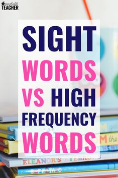 Sight words and high frequency words are a huge component of teaching reading, yet the difference between them is rarely discussed. Find out why it matters! Reading Fluency, Reading Intervention, Teaching Reading, Teaching Kindergarten, Word Reading, Reading Strategies, Teaching Ideas, Teaching Sight Words, Sight Words List