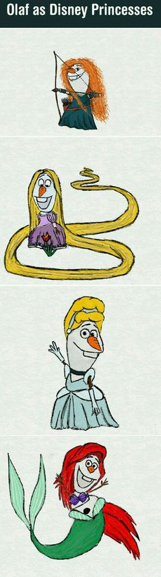 Funny pictures about If Olaf Was a Disney Princess. Oh, and cool pics about If Olaf Was a Disney Princess. Also, If Olaf Was a Disney Princess photos. Disney Pixar, Disney And Dreamworks, Disney Magic, Disney Art, Disney Movies, Disney Stuff, Disney Characters, Funny Disney Jokes, Funny Memes