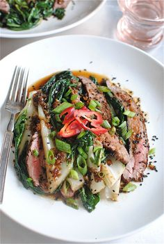 Asian Steak Salad with Bok Choy