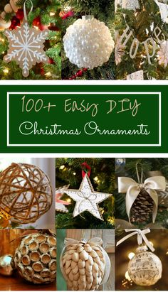 100 Easy DIY Christmas Ornaments