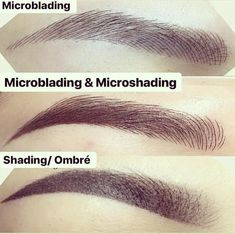 Semi permanent tattoos for eyebrows, like microblading and microshading, are on the rise. Here& how to figure out which eyebrow tattoos are best for you. Eyebrow Makeup Tips, Permanent Makeup Eyebrows, Semi Permanent Makeup, Hair Makeup, Semi Permanent Eyebrow Tattoo, Makeup Eyes, Mircoblading Eyebrows, Tattooed Eyebrows, Eyeliner