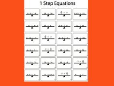 This is a 24 problem worksheet where students look at 1 step equations on top of a balance and solve them. This worksheet is black and white.