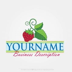 Create a Strawberry Label Logo Template with our Free Logo Creator Design your own logo online with this ready made Strawberry Label logo template. Use the Online Logo Creator to Strawberry Logo is suitable for branding a Fruit and Veg Shop Logo or  Cafe Logo. Creative Logos of this type will be outstanding as a Bakery Logo or Dessert Recipe Book Logo. Because this logo is very unique and stylish, can