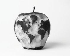 Oil: Canvas as Earth: Apple.