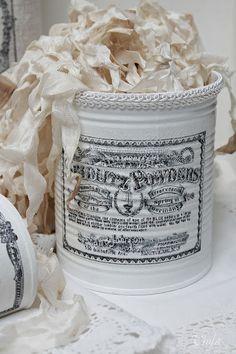 Shabby Chic Inspired: storage tins