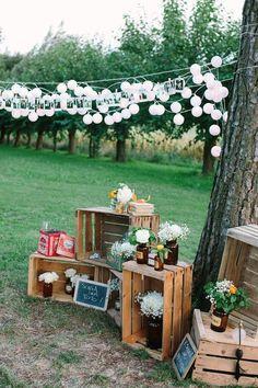 Deco mariage esprit guinguette - Facil Tutorial and Ideas Wedding Venues Italy, Italy Wedding, Chic Wedding, Rustic Wedding, Wedding Day, French Wedding, Wedding Flowers, Wedding Country, Wedding Beach