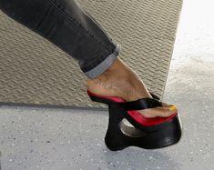 Flip Flop Shoes, Flip Flops, Jamel Shabazz, Pink Wedges, Black High Heels, Fashion Fabric, Mistress, Wedge Heels, Stockings