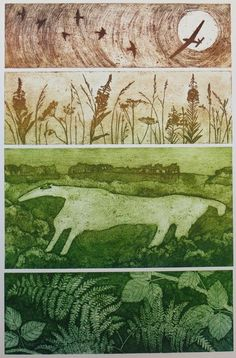 Prints by Hester Cox that are inspired by the natural landscape. Includes: collagraph, drypoint and intaglio photopolymer. Collagraph Printmaking, Artist Materials, Texture Painting, Art Techniques, Contemporary Art, Abstract Art, Illustration Art, Art Prints, Lino Prints