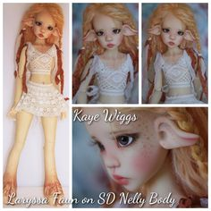 Future Doll: Laryssa Faun head on SD Nelly body BJD by Kaye Wiggs via The Resin Cafe