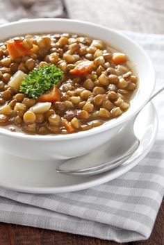 """Lentil soup was the ancient Greeks favourite winter soup and has been made since the Bronze Age in Egypt and India.'Faki' is now considered """"poor man's"""" soup because it is inexpensive to make..."""