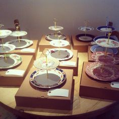 Individually designed cake stands