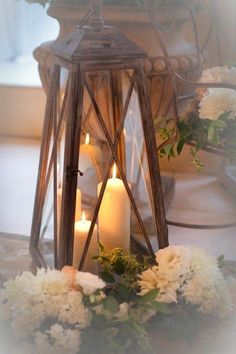 lanterns with candlelight