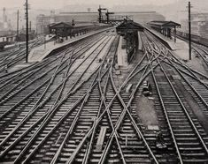 The trackwork outside the Great Western Railway's Birmingham Snow Hill Station, Dr David Turner ( Old Train Station, Disused Stations, Steam Railway, Railroad Photography, Train Pictures, Great Western, Hill Station, West Midlands, My Favorite Image