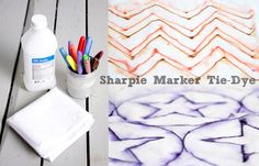 use rubbing alcohol to make sharpie markers bleed on fabric. would be cool on t-shirts or pillow covers