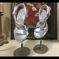 "🆑earance Gorgeous Steve Madden Sexy Shoes.  Sz 10 Look at these sexy Steve Madden shoes.  Worn once.  In great shape.  The heel is 4"".so Hot! Steve Madden Shoes Sandals"
