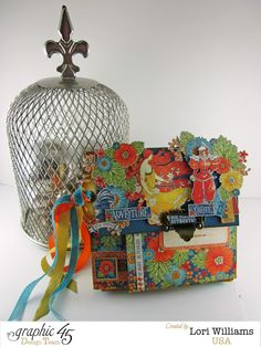 Create a Flip Flap Mini Book with Graphic 45  - Created by Lori Williams of Pinkcloud Scrappers