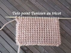 tuto point tunisien au tricot tunisian stitch knitting punto tunecino dos agujas, related videos and comments Crochet Afghans, Crochet Blanket Edging, Tunisian Crochet, Learn To Crochet, Easy Crochet, Crochet Stitches, Crochet Ideas, Easy Knitting, Knitting For Beginners