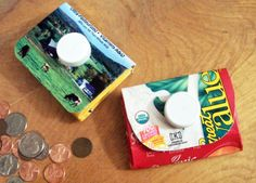 Recycling for Kids -- Turn a Milk Carton Into a Coin Purse: A Hands-on Project That Teaches Kids About Recycling