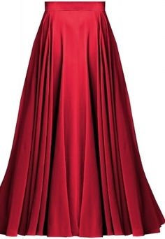Flowing Circular Satin Maxi Skirt   Elizabeth's Custom Skirts