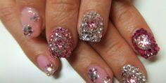 Fake Nail Designs With Diamonds.  #nailart #nailideas #nailpollish #naildesign #diamonds http://nailartcafe.com/girly-nail-designs-with-diamond.html
