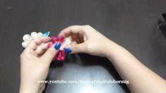 petalos dobles para flores en tela en un solo paso