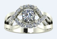 Absolutly love, it is so different 3D  CAD Digital file Solitaire with sides by PiettroJewelry