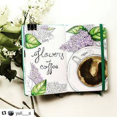 "158 Likes, 1 Comments - BJC | Bujo collection (@bulletjournalcollection) on Instagram: ""For a Monday morning... coffee and flowers... from Julia @yuli___s . .  #bulletjournal…"""