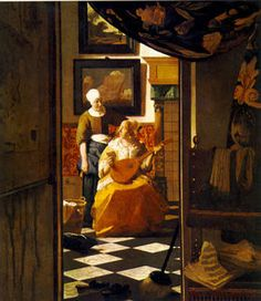 Jan Vermeer - Der brief , Rijksmuseum Amsterdam untergebracht
