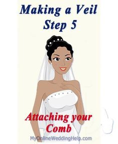 Use this easy, how to make a wedding veil tutorial to create your own bridal veil. Shows how to attach the comb, too. Diy Wedding Veil, Wedding Costs, Wedding Day, Veil Diy, Wedding Dresses, Wedding Bouquets, Wedding Stuff, Wedding Consultant, Thing 1