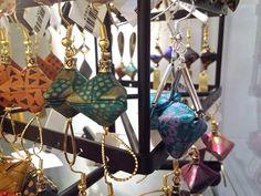 Adorable Origami earings by Mayumi Origami! #originalLisboa