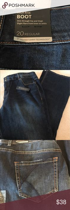 Lane Bryant high rise bootcut tighter tummy jeans Lane Bryant high rise tighter tummy tech bootcut jeans. Sz 20. New without price tags. Never worn Lane Bryant Jeans Boot Cut