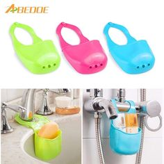 Cheap sponge holder, Buy Quality kitchen organizer directly from China holder storage Suppliers: Home Kitchen Organizer Sink Hanging Strainer Basket Sponge Holder Storage Gadget Rack Soap Shelf Basket Kitchen Accessories Tool Hanging Basket Storage, Storage Baskets, Bag Storage, Laundry Baskets, Plastic Bottle Crafts, Recycle Plastic Bottles, Plastic Containers, Kitchen Sink Caddy, Diy Kitchen Accessories
