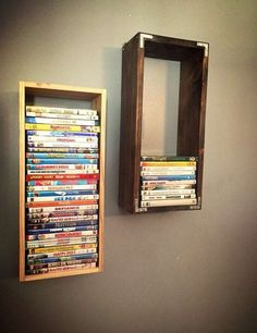 DVD Wooden Wall Mount Display Case
