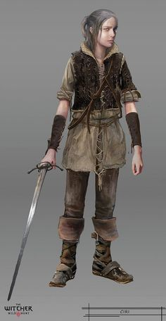 Ciri as a child - The Witcher 3: The Wild Hunt. Concept Art. http://thewitcher3ps4.com/the-witcher-3-gallery/