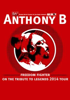 Anthony B - Tribute To Legends 2014 Tour - Tshirt